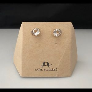 Chloe + Isabel Gold Brilliant Stud Earrings